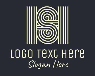 Ripple - Letter S & H logo design