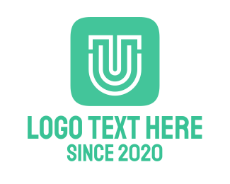 Letter U App Icon Logo