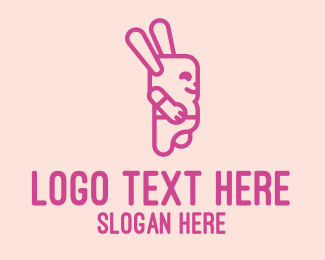 Apparel - Pink Chubby Bunny logo design