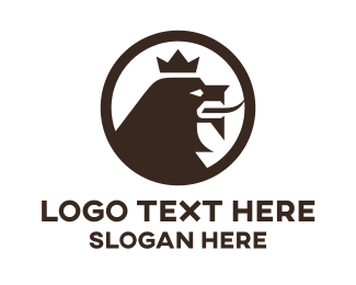 Royal - Brown Lion King logo design