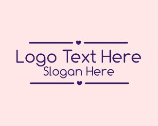 Hearts - Cute Heart Wordmark logo design