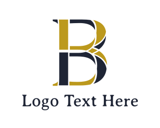 Brisbane - Gold Blue B logo design