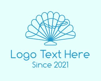 Swimming - Ocean Seashell logo design