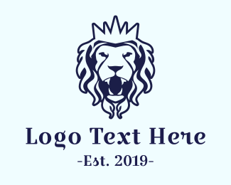 Edinburgh - Royal Blue Lion logo design