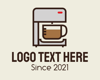 Machine - Coffee Maker Machine logo design