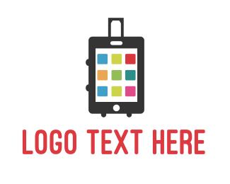 Suitcase - Smart Luggage logo design