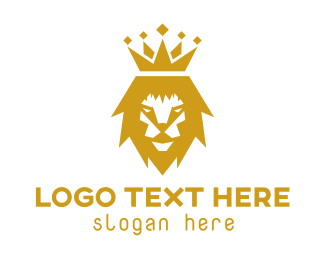 Insurance Agency - Gold Lion Crown logo design