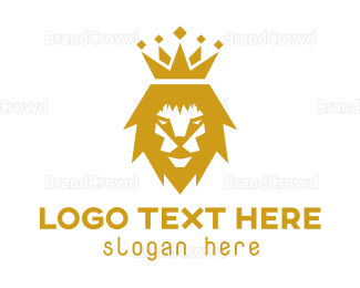 Carnivore - Gold Lion Crown logo design