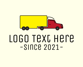 Cargo - Long Cargo Truck logo design
