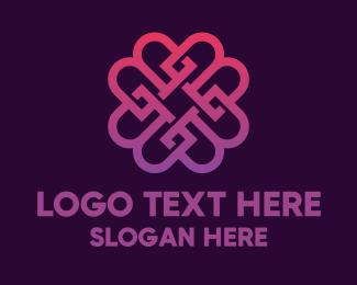 Violet - Beauty Violet Flower logo design