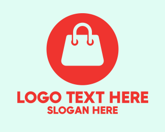 Handbag - Red Handbag Store  logo design