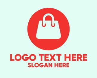 Shop - Red Handbag Shopping logo design