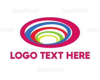 Hole - Rainbow Circles logo design