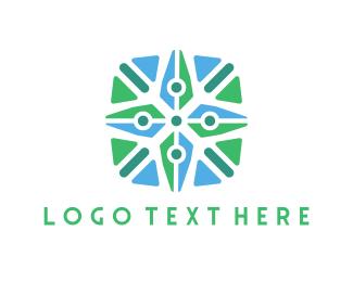 Point - Compass Star logo design