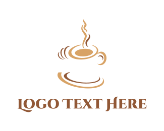Latte - White Coffee Cup logo design