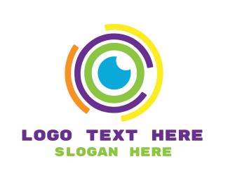 Telescope - Colorful Abstract Eye logo design