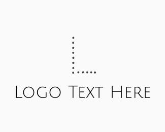 Barre - Simple Dot Letter Font logo design