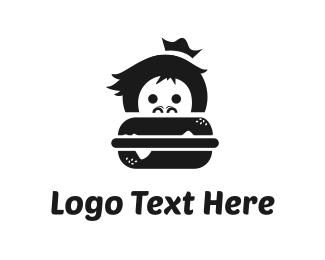 Burger Bar - Monkey Burger logo design