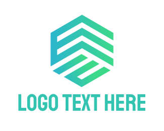 Builders - Gradient E Cube logo design