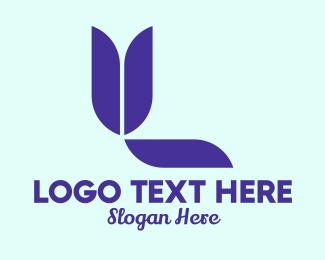 Kids Fashion - Violet Tulip Letter Y logo design