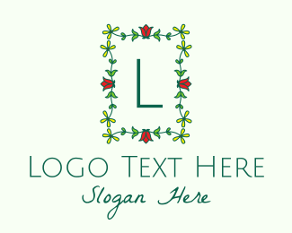 Beauty Vlog - Flower Garden Letter logo design