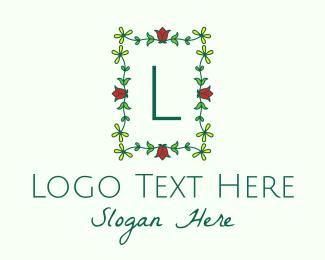 Events - Flower Garden Letter logo design