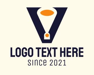 Cheering Squad - Letter V Speakerphone logo design