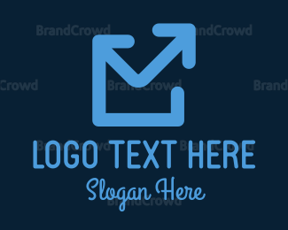 Communicate - Blue Mail Up logo design