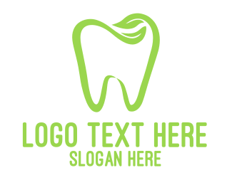 Green Tooth - Organic Dentistry logo design