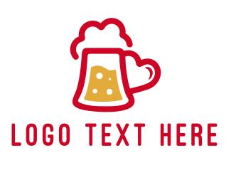 Beer Drink Love Heart Logo