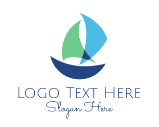 Cruiser - Blue Boat logo design