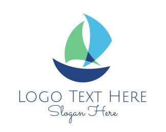 Fish Market - Blue Boat logo design