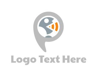 Call Center - Speaker Quote logo design