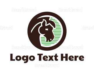 Agricultural - Brown Horse logo design