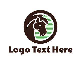 Horse Racing - Brown Horse logo design