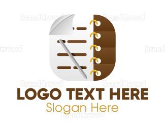Academy - Notebook Icon Application logo design