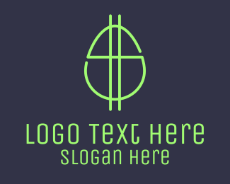 Monetary - Green Fluro Egg Dollar logo design