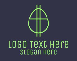 Income - Green Fluro Egg Dollar logo design