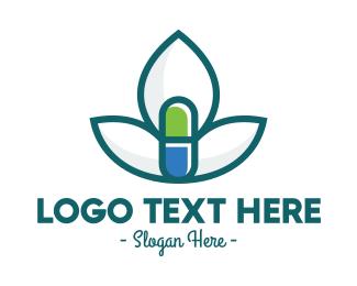 Petals - Flower Petal Medicine Pill logo design