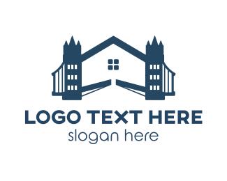 England - Bridge House logo design