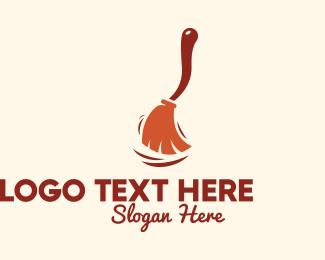 Sweeper - Sweeping Broomstick  logo design