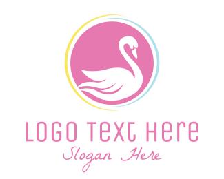 Girly - Pink Swan logo design