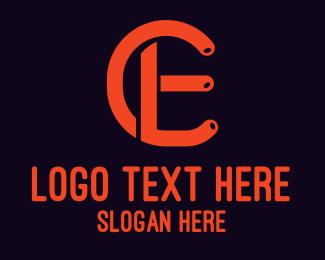 Ec - CE Monogram logo design