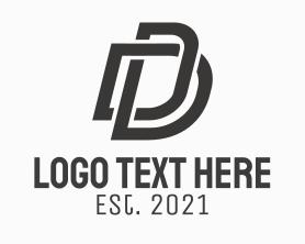 Company - Black Corporate Letter D logo design
