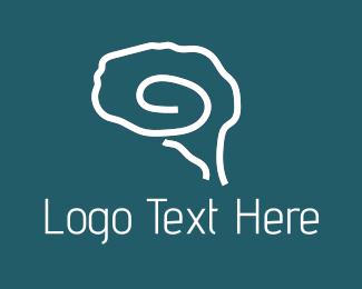 Hypnotherapy - Brain Outline logo design