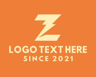 Charging Station - Yellow Thunderbolt Letter Z logo design
