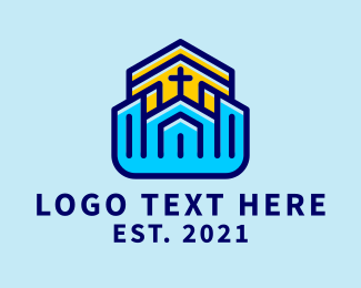 Church - Church Community Cross logo design