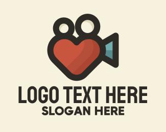 Documentary - Heart Movie Camera logo design