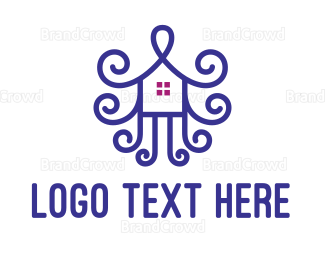 Architect - Violet House Ornament logo design