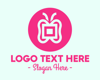 Icon - Pink Butterfly logo design